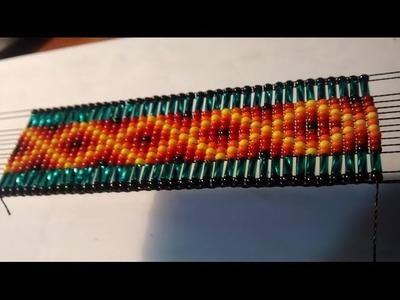 Como hacer un Nuevo diseño de pulseras en mostacilla