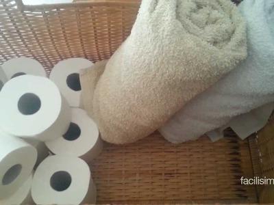 Cómo hacer un toallero con una caja de mimbre | facilisimo.com