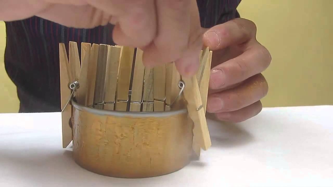 Como hacer una lampara con ganchos de madera my crafts - Como hacer una lampara rustica ...