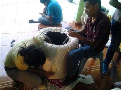 Como hacer unos sofas de llantas