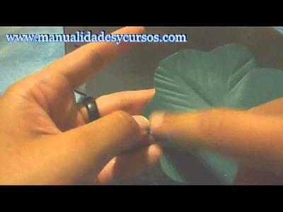 Como moldear hojas de malva en goma eva o foami paso a paso