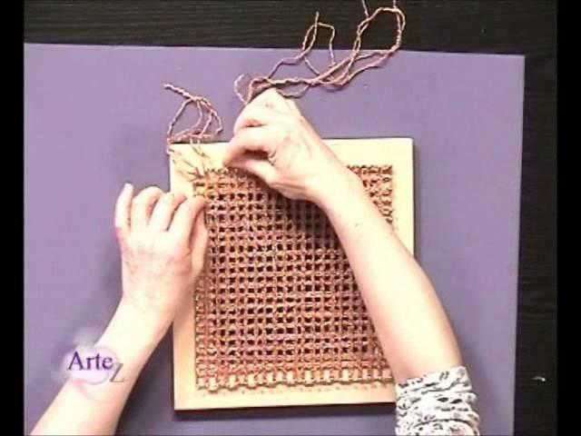 Como tejer un chal en telar cuadrado