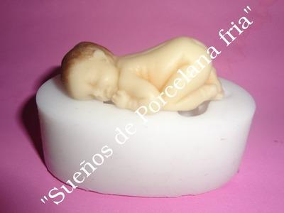 Como utilizar el Molde flexible bebe durmiendo