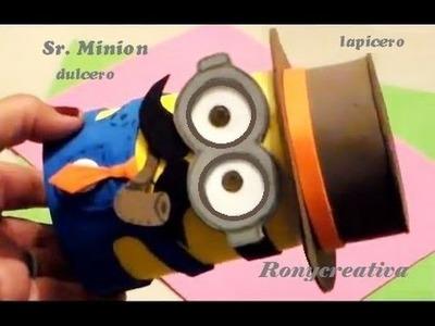 (Dia del padre)COMO HACER UN Sr. MINION - Mr. MINION DESPICABLE ME DIY