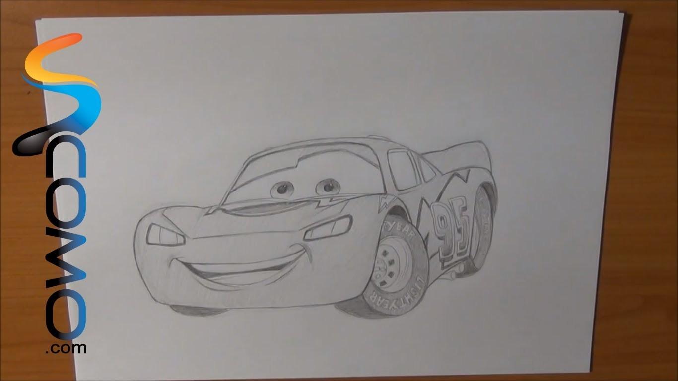 Dibujar a Rayo McQueen de Cars