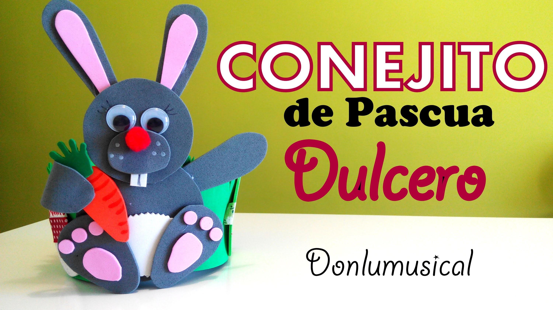 DIY Conejito dulcero de Pascua. Easter bunny