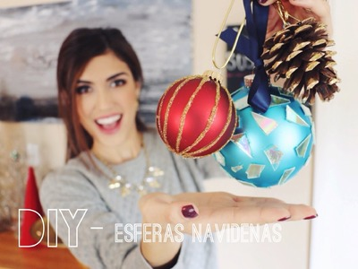 DIY- ESFERAS NAVIDENAS ( 5 Ideas ) #decoroconkarely - Tipsdekarely