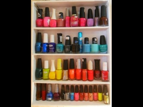 "DIY ""ORGANIZADOR DE ESMALTES""  NAIL POLISH DISPLAY"