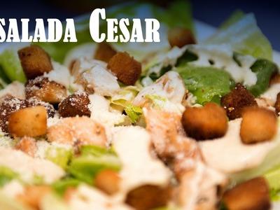 Ensalada Cesar con Pollo muy Facil