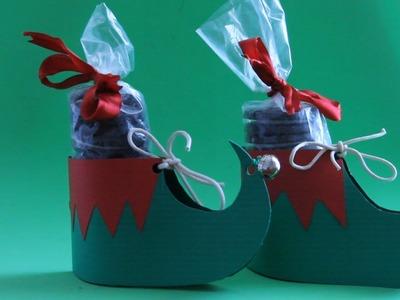 Hacer botas de duende con galletas para Navidad