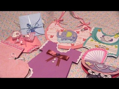 Invitaciones super facil de hacer para Baby Shower