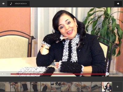 Juego de Guantes - Mitones, gorro y bufanda - tejido con dedos -  Tejiendo con Laura Cepeda