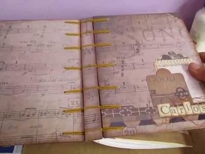 Libreta Vintage con encuadernación Belga.Cristina su-Perú