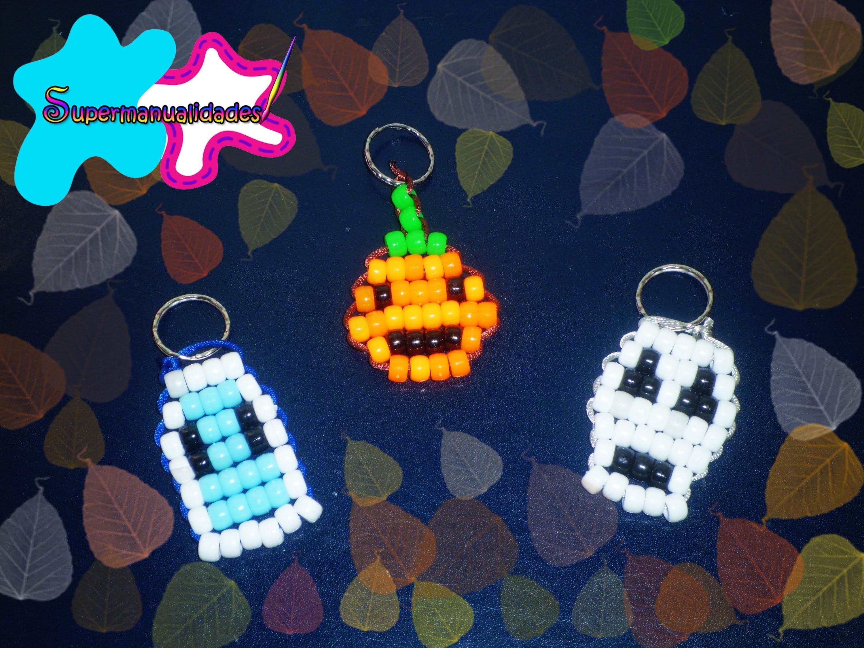Llaveros de halloween (calaverita, calabaza y fantasmita) ✞SUPERMANUALIDADES✞