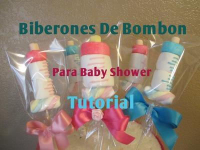 Mamila.Biberon En Bombón Para Baby Shower Muy Fácil (2 Ideas) - Madelin's Cakes