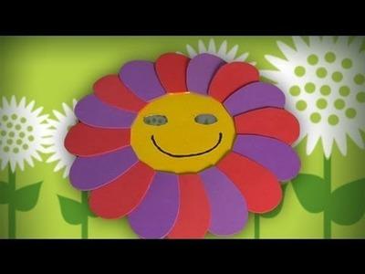 Máscara de flor, manualidades de disfraces para carnaval