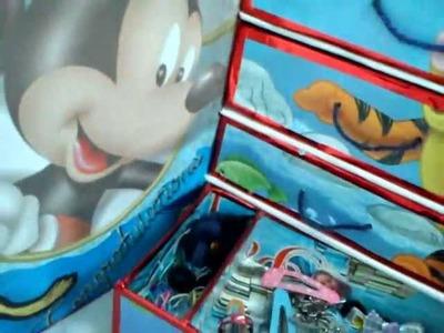Organizador mini roperitode una caja de zapatos