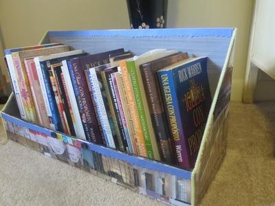 Organizador para Libros y Cuadernos (reciclando cartón y revistas)
