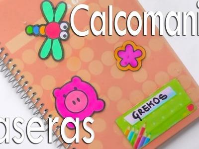 Pegatinas. Calcomanias caseras para decorar cuadernos cartas tarjetas libros agendas