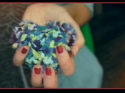 Pompones con formas de corazon y cubo || Manualidades hechas de lana