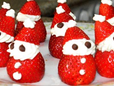 Postre de fresas con crema | Recetas de postres, receta de cocina facil