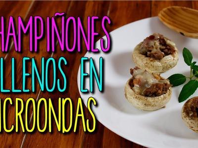 Recetas de Cocina Fáciles - Champiñones Rellenos en Microondas