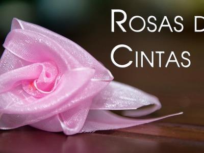Rosas de Cintas Sorprendentes y Bellisimas  Las Mas Faciles y Rapidas