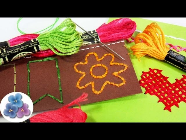 Scrapbook Ideas: 8 Técnicas de Bordado Re fácil Tutoriales en Español DIY Scrapbooking Pintura Facil