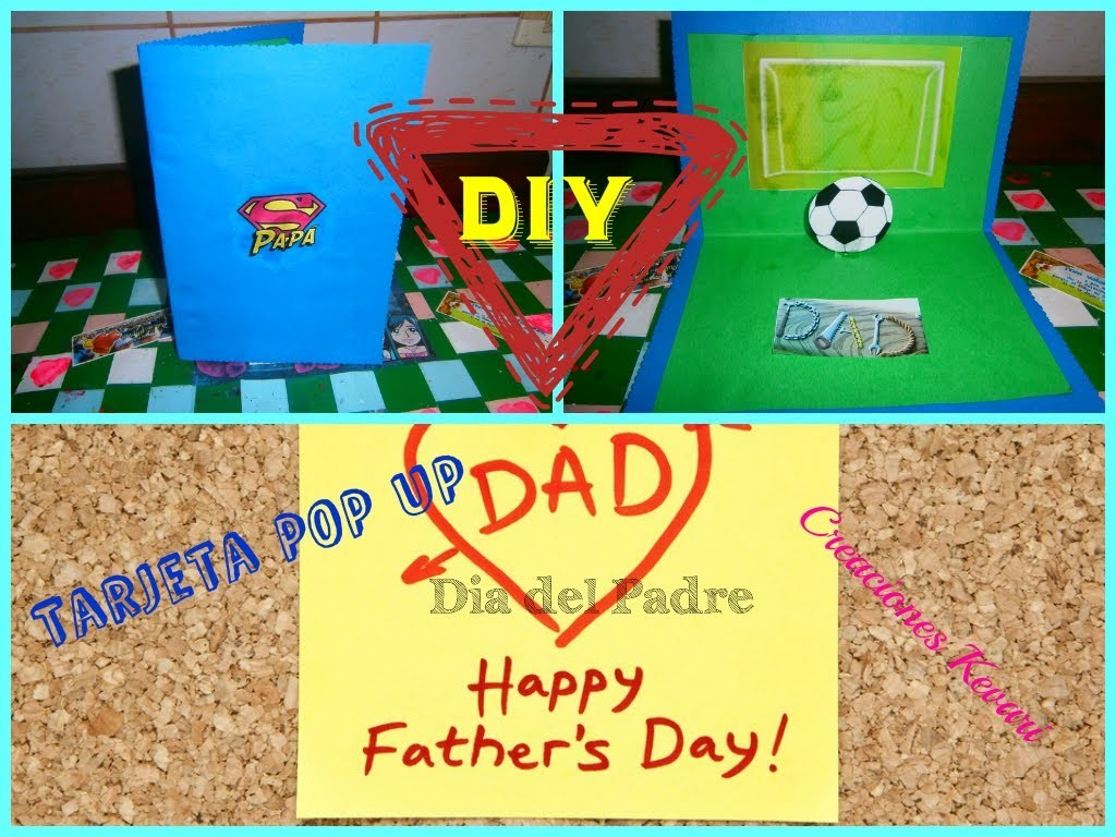 Tarjeta Para el Dia del Padre Pop Up.HOW TO MAKE  POP-UP CARD