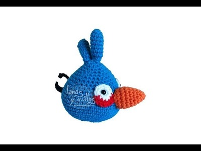 Tutorial Angry Birds Azul Amigurumi Blue (English subtitles)