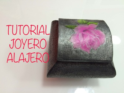 Tutorial caja joyero de carton o alajero de carton