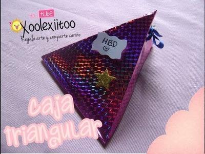 @xoOlexiitOo ❥DIY: Caja Triangular