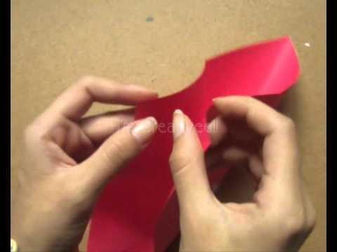 1.Corazón con 2 bolsillos.Origami[Tutorial]