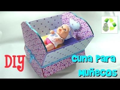 157. DIY CUNA PARA MUÑECOS (RECICLAJE DE CARTON Y TELA)