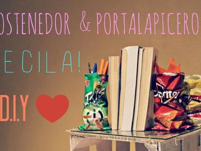 #31 SOSTENEDOR DE LIBROS & PORTA-LAPICEROS | ♥ D.I.Y.