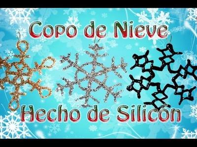 Adorno Navideño, Copos de Nieve escarchados hechos de silicón --DIY