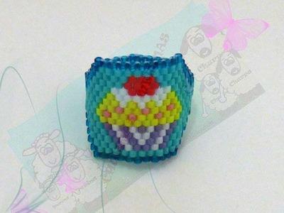 Anillo Cupcake miyuki delicas