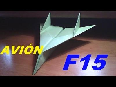 AVION F15 DE PAPEL--origami--