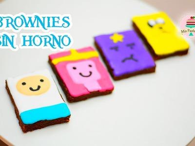 BROWNIES DE NUTELLA SIN HORNO | HORA DE AVENTURA | MIS PASTELITOS KIDS