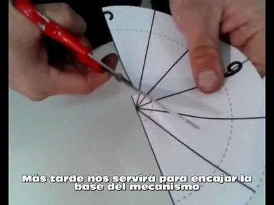 Como colocar un reloj de pared con una  plantilla