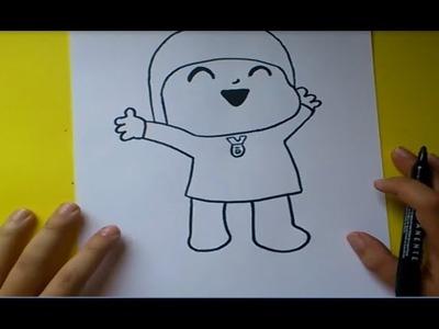Como dibujar a Pocoyo paso a paso - Pocoyo | How to draw Pocoyo - Pocoyo