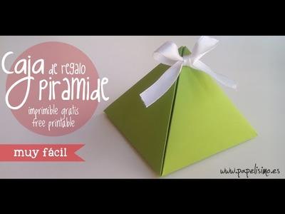Cómo hacer caja pirámide para regalo