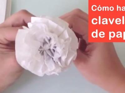 Cómo hacer claveles de papel