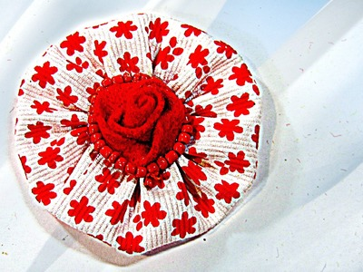 Cómo hacer flores de tela, How to make fabric flowers.
