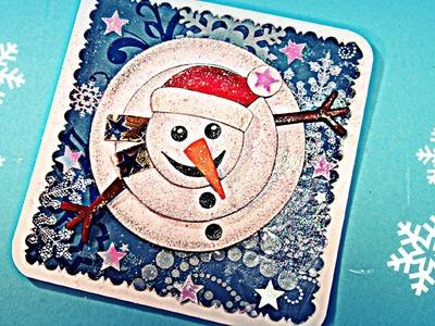 Cómo hacer tarjetas de Navidad en 3D. Christmas card.