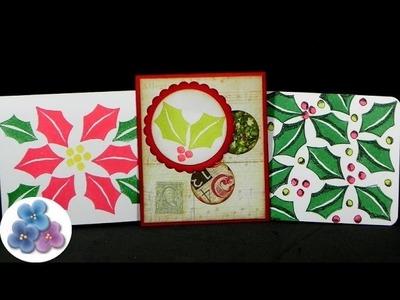 Como Hacer Tarjetas Navideñas Re FACIL diy *Christmas Cards*  Tarjetas de Navidad 2014 Pintura Facil
