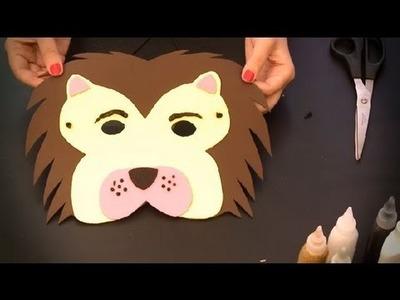 Cómo hacer un antifaz de león : Antifaces de animales para niños
