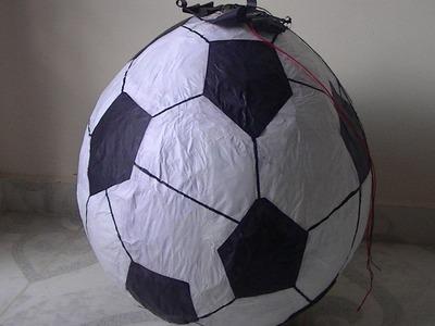 Como hacer una Piñata Balón de Futbol!!.wmv