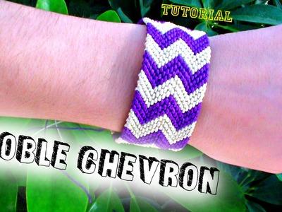 Como hacer una pulsera de hilo encerado ➣ Doble chevron