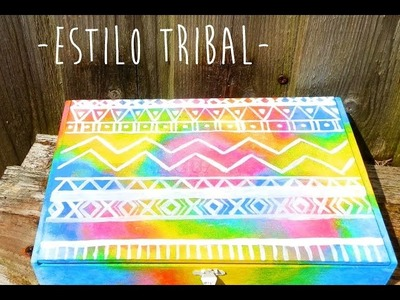 Como pintar cajas de madera - Estilo Tribal -. How to paint wooden boxes -